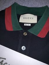Mens Navy Gucci Polo Shirt Size Large