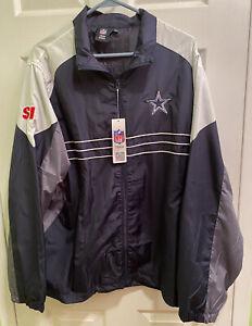 NWT Dallas Cowboys Sports Illustrated SI NFL Reebok Windbreaker Zip Jacket Large