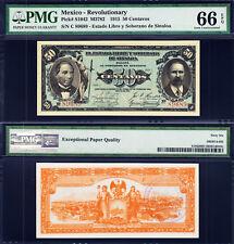 Mexico Revolutionary Currency 50 Centavos 1915 P-S1042 GEM UNC PMG 66 EPQ