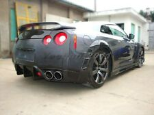 Carbon Kit Fit 08-13 Nissan R35 GTR WD Rear Fender Flare for OE Side Skirts