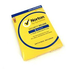 New Norton Internet Security Deluxe Antivirus 5 Device Win Mac Android iOS #3555