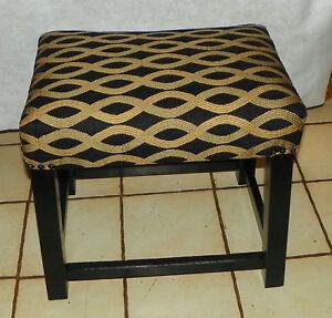 Black & Gold Vanity Bench / Stool  (BN189)