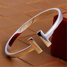 T-Shape Women Jewelry 999 Silver Bracelet Open Type Bangle Gift Box Best Price