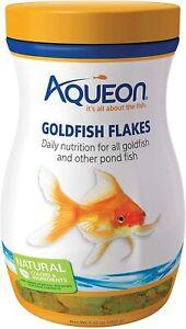 7.12oz Aqueon Goldfish Flakes, FREE 12-Type Pellet Mix Included