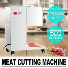 500Kg/H Stainless Steel Meat Cutting Machine w/ Pulley Cutter Slicer Commercial