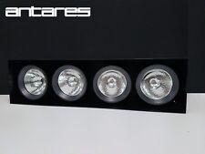 Antares 4x100W QT-12 Recessed Trimless Compass Box, 29° Optic, Black Finish