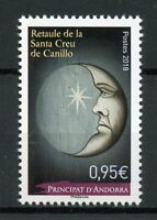French Andorra 2018 MNH Altarpiece Holy Cross of Canillo 1v Set Religion Stamps
