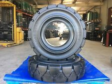 Globestar Forklift Tire 500 8 Black Solid Pneumatic