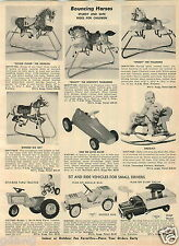 1965 PAPER AD Structo Buddy L Ride On Tractor Doodle Bug Dump Truck Sit-N-Ride