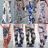 Womens Boho Floral Palazzo Wide Leg Pants Casual Summer Loose Trousers Plus Size