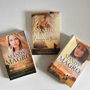 Mandy Magro x 3 Books Jacaranda Country at Heart Home Sweet Home Trade Paperback