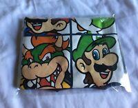 Nintendo Men's Super Mario Bros. Characters Bowser Yoshi T-Shirt