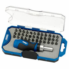 Draper Rbs37 Ratchet Screwdriver and Bit Blue Set of 37