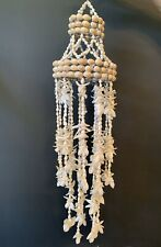 Vintage Sea Shell Chandelier Hanger Wind Chime Patio Beach Decor Cowrie Shells