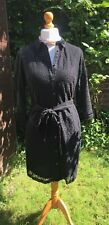 Laura Ashley Occasion Dress - Black Lace With Belt - UK 12 - BNWT - RRP £95