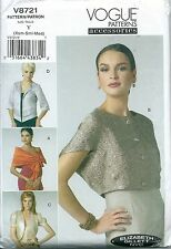 Vogue Patterns Accessories V8721, Wrap, Shrug & Jacket, Size Xsm,Sml,Med - Uncut