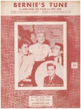 BERNIE'S TUNE 1955 THE CHEERS Buddy Bregman Vintage Sheet Music
