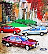 FORD SIERRA RANGE 1987 includes NEW SAPHIRE and XR4X4 - PLUS Price List