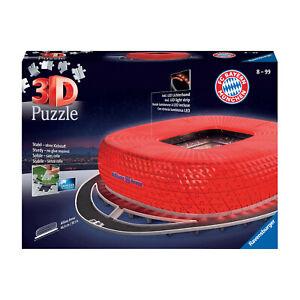 FC Bayern München 3D Puzzle Allianz Arena Night Edition Ravensburger 46 x 36 x 9