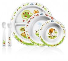 AVENT Baby Mealtime Set Plate Bowl Spoon Fork #givelove