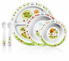 AVENT Baby Mealtime Set Plate Bowl Spoon Fork