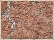 BAD RAGAZ PRÄTIGAU MONTAFON ENVIRONS. Wangs Rätikon Bludenz Maienfeld 1897 map