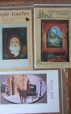 VTG TOLE PAINTING PATTERN PACKETS (3) SANTA, WINTER RIDE, COUNTRY COTTAGE