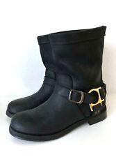 Dolce&Gabbana Stiefeletten Biker Boots 39 Schwarz Leder Stiefel Chunky Black D&G