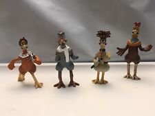 Lot 4 Small Chicken Run (The Movie) Miniature Figures