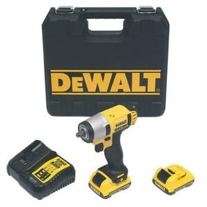 DeWalt Cordless Impact Wrench DCF813D2-GB 10.8V 2 x 2.0Ah Li-Ion XR With Charger