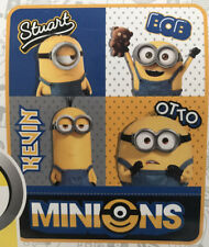 NEW Minions The Rise of Gru 40in x 50in Kids Silky Soft Fleece Throw Blanket
