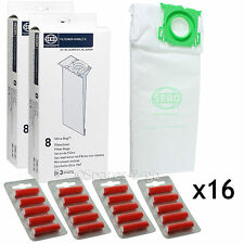 Genuine SEBO Komfort K1 K3 Vulcano Vacuum Cleaner x 16 Dust Bags + 20 Fresheners