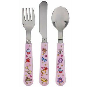 Little Stars Fairy Tale Fantasy Design Fork Spoon Knife Childrens Cutlery Set