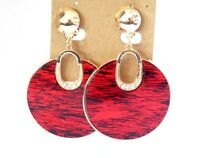 CLIP-ON EARRINGS DANGLE EARRINGS ASSORTED COLORS CRYSTAL  2.75 IN L 1.75 IN W