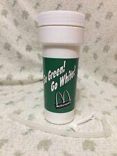 MICHIGAN STATE McDonalds Drinking Cup Bottle w/ Lid & Straw 1993 SPARTAN POWER