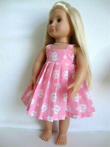"18"" dolls clothes kitten summer dress fits our generation doll design a friend"