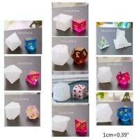 22Pcs/Set Transparent Dice Epoxy Mold UV Resin Dice DIY Craft Making Mould T9E0