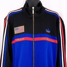Adidas Originals Olympics Mens Track Jacket America Nations USA Trefoil Size XL