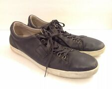 Dolce And Gabbana Mens Fashion Sneakers Size 10 Navy Blue Leather And Suede