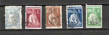 PORTUGAL 1912-1930 Ceres 5 timbres