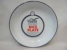 New Falcon White Enamel Round Pie Rice Plate Baking Dish Tin 26cm