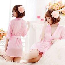 Sexy Women Ladies Lace Robe Sleepwear Lingerie Nightdress G-string Pyjamas