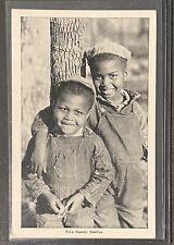 Black Americana Postcard Two Sunny Smiles RPPC Stamped 1952