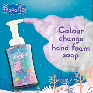 Peppa Pig Foaming Hand Soap Colour Changing Kids Childrens Washing Hands Cleaner