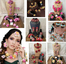 Wedding Floral Bridal Flower haldi Mehendi Ceremony Jewelry Bridal Handmade Set