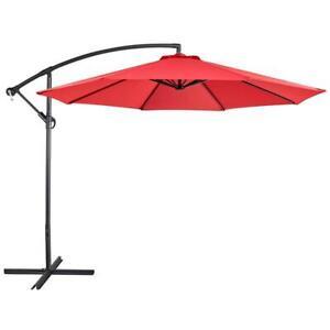 Cantilever Patio Umbrella Crank 10 Foot Durable Construction High Quality Fabric