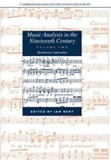 Cambridge Readings in the Literature of Music: Music Analysis in the...
