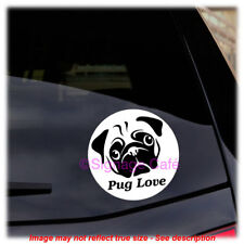 Pug Love - Vinyl Decal - Perfect for the dog lover! Great for car, laptop, etc.