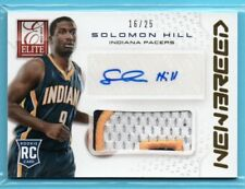 2013-14 Elite NEW BREED GOLD Solomon Hill #/25 SP RC AUTO 3-CLR PATCH - PACERS