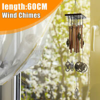 Wind Chime Wood Tubes Outdoor Yard Garden Home Decor Hanging Ornament 60CM